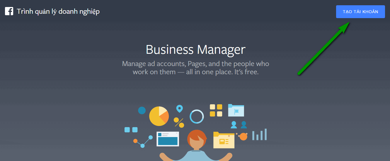 Cách tạo facebook business manager